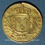 Monnaies 1ère restauration (1814-1815). 20 francs buste habillé 1814A. 900/1000. 6,45 g. Type avec 4 long