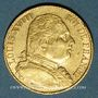 Monnaies 1ère restauration (1814-1815). 20 francs buste habillé 1814A. 900/1000. 6,45 g. Type avec 4 moyen
