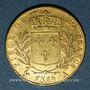 Monnaies 1ère restauration (1814-1815). 20 francs buste habillé 1814A. 900 /1000. 6,45 g. Type avec 4 moyen