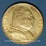 Monnaies 1ère restauration (1814-1815). 20 francs buste habillé 1814A. 900 /1000. 6,45 gr. Type avec 4 long
