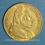 Monnaies 1ère restauration (1814-1815). 20 francs buste habillé 1814A. (PTL 900/1000. 6,45 g)