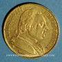 Monnaies 1ère restauration. 20 francs buste habillé 1814 A. (PTL 900‰. 6,45 g). Type avec 4 long
