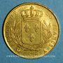 Monnaies 1ère restauration. 20 francs buste habillé 1814 A. (PTL 900‰. 6,45 g). Type avec 4 moyen