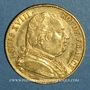 Monnaies 1ère restauration. 20 francs buste habillé 1814A. (PTL 900‰. 6,45 g). Type avec 4 long