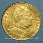 Monnaies 1ère restauration. 20 francs buste habillé 1814A. (PTL 900/1000. 6,45 g). Type avec 4 long
