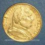 Monnaies 1ère restauration. Louis XVIII (1814-1815). 20 francs 1814A. (PTL 900 /1000. 6,45 g)
