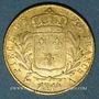 Monnaies 1ère restauration. Louis XVIII (1814-1815). 20 francs buste habillé 1814A. 900 /1000. 6,45 g