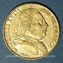 Monnaies 1ère restauration. Louis XVIII (1814-1815). 20 francs buste habillé 1814A. Type avec 4 long