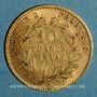 Monnaies 2e empire (1852-1870). 10 francs Napoléon III tête laurée 1862 A. (PTL 900‰. 3,22 g)