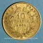 Monnaies 2e empire (1852-1870). 10 francs Napoléon III tête laurée 1864 BB. Strasbourg. (PTL 900‰. 3,22 g)