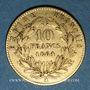 Monnaies 2e empire (1852-1870). 10 francs, Napoléon III, tête laurée 1864A. 900 /1000. 3,22 gr