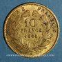 Monnaies 2e empire (1852-1870). 10 francs Napoléon III tête laurée 1865 A. (PTL 900‰. 3,22 g)