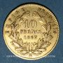 Monnaies 2e empire (1852-1870). 10 francs, Napoléon III, tête laurée 1867BB. Strasbourg. 900 /1000. 3,22 gr