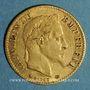 Monnaies 2e empire (1852-1870). 10 francs Napoléon III tête laurée 1868 A. (PTL 900‰. 3,22 g)