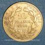 Monnaies 2e empire (1852-1870). 10 francs Napoléon III tête laurée 1868A.(PTL  900 /1000. 3,22 gr)