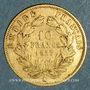 Monnaies 2e empire (1852-1870). 10 francs tête nue 1857A, grand module. (PTL 900‰. 3,22 g)