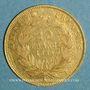 Monnaies 2e empire (1852-1870). 10 francs tête nue 1859 A, grand module. (PTL 900‰. 3,22 g)