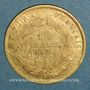 Monnaies 2e empire (1852-1870). 10 francs tête nue 1860BB Strasbourg grand module. (PTL 900/1000. 3,22 g)