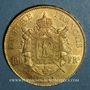 Monnaies 2e empire (1852-1870). 100 francs Napoléon III tête laurée 1864A. (PTL 900‰. 32,25 g)