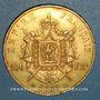 Monnaies 2e empire (1852-1870). 100 francs Napoléon III tête laurée 1866A. (PTL 900 /1000. 32,25 g)