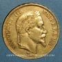 Monnaies 2e empire (1852-1870). 100 francs Napoléon III tête laurée 1869A. (PTL 900 /1000. 32,25 gr)