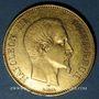 Monnaies 2e empire (1852-1870). 100 francs Napoléon III, tête nue 1855A. 900 /1000. 32,25 gr