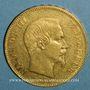 Monnaies 2e empire (1852-1870). 100 francs Napoléon III tête nue 1855A. (PTL 900/1000. 32,25 g)