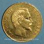 Monnaies 2e empire (1852-1870). 100 francs Napoléon III tête nue 1857 A. (PTL 900‰. 32,25 g)