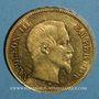 Monnaies 2e empire (1852-1870). 100 francs Napoléon III tête nue 1857A. (PTL 900 /1000. 32,25 g)