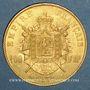 Monnaies 2e empire (1852-1870). 100 francs Napoléon III tête nue 1858 BB. Strasbourg. (PTL 900‰. 32,25 g)