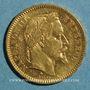 Monnaies 2e empire (1852-1870). 20 francs Napoléon III tête laurée 1861A. (PTL 900 /1000. 6,45 g)