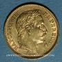 Monnaies 2e empire (1852-1870). 20 francs, Napoléon III, tête laurée 1862A. 900 /1000. 6,45 gr