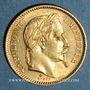 Monnaies 2e empire (1852-1870). 20 francs, Napoléon III, tête laurée 1862A. Grand A. 900 /1000. 6,45 gr