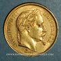 Monnaies 2e empire (1852-1870). 20 francs Napoléon III tête laurée 1862A. Petit A. (PTL 900 /1000. 6,45 gr)