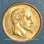 Monnaies 2e empire (1852-1870). 20 francs Napoléon III tête laurée 1862A. (PTL900 /1000. 6,45 gr)