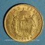 Monnaies 2e empire (1852-1870). 20 francs Napoléon III tête laurée 1864 A. (PTL 900‰. 6,45 g)