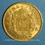 Monnaies 2e empire (1852-1870). 20 francs Napoléon III tête laurée 1864 BB. Strasbourg. (PTL 900‰. 6,45 g)