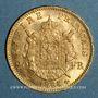 Monnaies 2e empire (1852-1870). 20 francs Napoléon III tête laurée 1865A. (PTL 900‰. 6,45 g)
