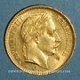 Monnaies 2e empire (1852-1870). 20 francs Napoléon III tête laurée 1866BB. Strasbourg. (PTL 900‰. 6,45 g)