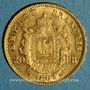 Monnaies 2e empire (1852-1870). 20 francs Napoléon III tête laurée 1867 A. (PTL 900‰. 6,45 g)