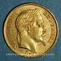 Monnaies 2e empire (1852-1870). 20 francs Napoléon III tête laurée 1868 BB. Strasbourg. (PTL 900‰. 6,45 g)