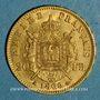 Monnaies 2e empire (1852-1870). 20 francs Napoléon III tête laurée 1869 A. (PTL 900‰. 6,45 g)