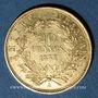 Monnaies 2e empire (1852-1870). 20 francs, Napoléon III, tête nue 1853A. 900 /1000. 6,45 gr