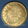 Monnaies 2e empire (1852-1870). 20 francs, Napoléon III, tête nue 1856A. 900 /1000. 6,45 g