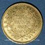 Monnaies 2e empire (1852-1870). 20 francs, Napoléon III, tête nue 1857A. 900 /1000. 6,45 g