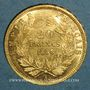 Monnaies 2e empire (1852-1870). 20 francs Napoléon III tête nue 1858A. (PTL 900 /1000. 6,45 g)