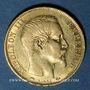 Monnaies 2e empire (1852-1870). 20 francs, Napoléon III, tête nue 1859A. 900 /1000. 6,45 g