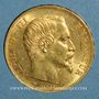 Monnaies 2e empire (1852-1870). 20 francs Napoléon III tête nue 1859A. (PTL 900 /1000. 6,45 g)
