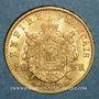Monnaies 2e empire (1852-1870). 20 francs tête laurée 1863A. (PTL 900 /1000. 6,45 g)