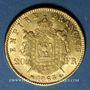 Monnaies 2e empire (1852-1870). 20 francs tête laurée 1863BB. Strasbourg. 900 /1000. 6,45 gr